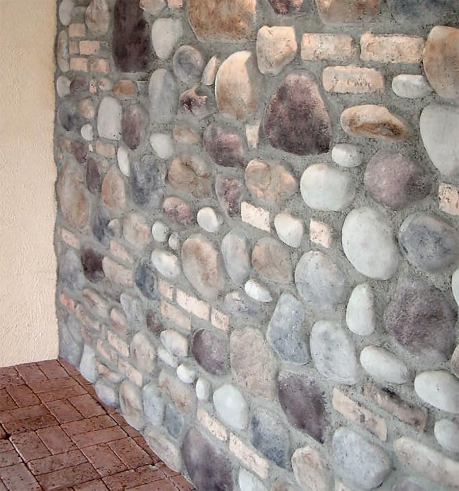 Rivestimenti in sasso fiume e sasso marino per interni ed esterni live stone - Sassi per pareti interne ...